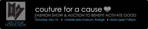 Couture for a Cause, benefiting Activate Good, returns on Saturday