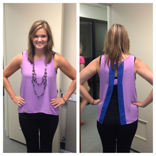 Purple shirt from The Purple Polka Dot in Cary
