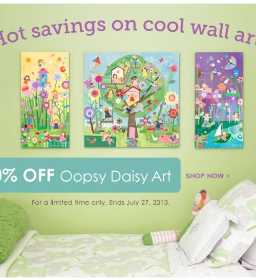 10% off Oopsy Daisy Art at Rosenberry Rooms through this weekend!