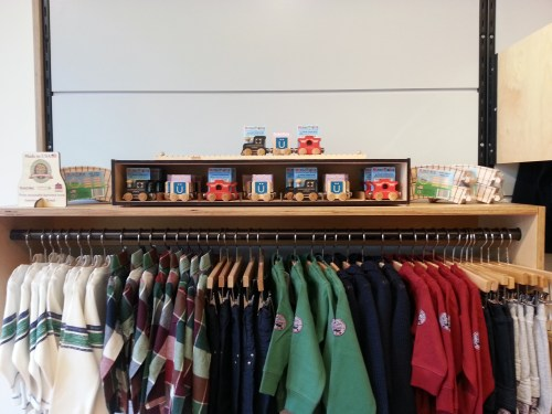 Maple Landmark name trains and adorable fall clothing for little men at Nuvonivo