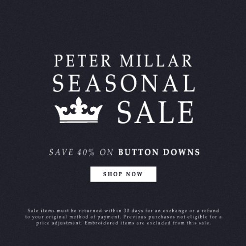 Button Down Sale at Peter Millar from Cary