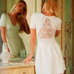 Feminine Charms: French Connection eyelet ribbed dress