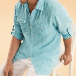 Linen shirts for men's collections in Spring 2014