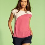 A boxy top with flattering shorts or fitted pants work with flats, wedges or chunky heels
