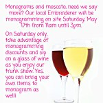 {You're Invited} Monograms & Moscatos