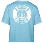 Anchor South's new Lifesaver t-shirt design in blue