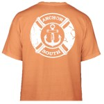 Anchor South's new Lifesaver t-shirt design in orange