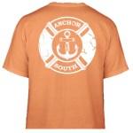 Anchor South's new Lifesaver t-shirt design in orange