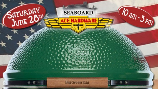 Sale on Big Green Egg grills at Seaboard Ace Hardware in Downtown Raleigh