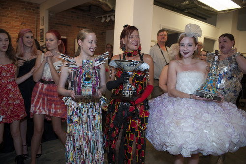 Winners at the FRANK Gallery Rubbish 2 Runway fashion show