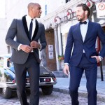 Bonobos Grey and Blue Tuxedos