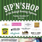 Sip 'N' Shop at Raleigh Brewing Next Week