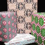 {Window Shopping} Monogrammed Wrapping Paper