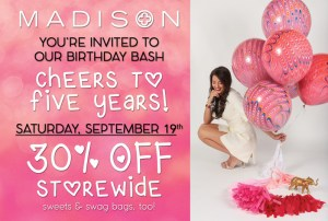 Happy birthday to Raleigh's MADISON boutique!