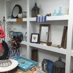 Home goods in the back showroom at Bald Head Blues in Raleigh