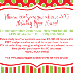 {You're Invited} Upcoming Holiday Open House Events