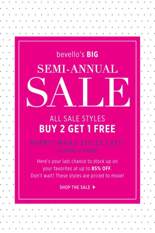 Semi-annual sale at bevello