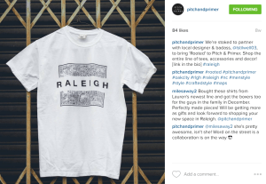 """""""Rooted"""" collection's Raleigh tee featured on Pitch & Primer"""