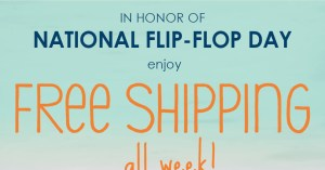 Free shipping on flip flops this week from Raleigh's Feelgoodz