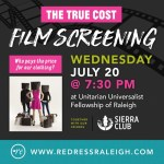 Free film screening courtesy of Redress Raleigh and The Sierra Club