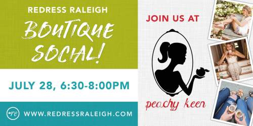 Redress Raleigh social at Peachy Keen