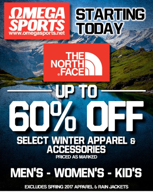 Winter sale at Omega Sports