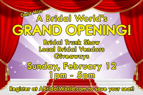 A Bridal World grand opening in Raleigh