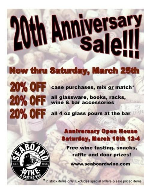 Seaboard wine anniversary sale