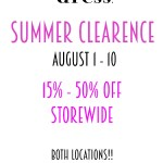 summer clearance sale at dress raleigh