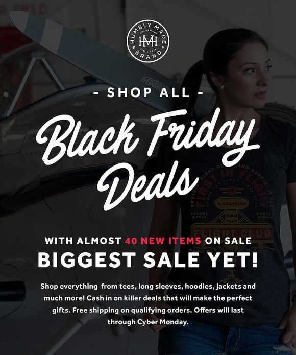 Black Friday sale at Humbly Made in Raleigh