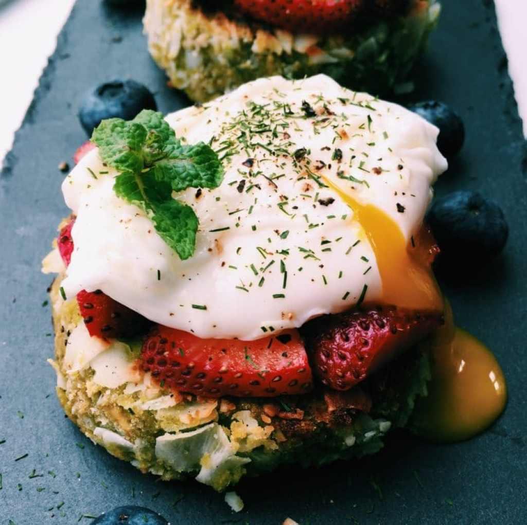 Crustless Coconut Egg Tart
