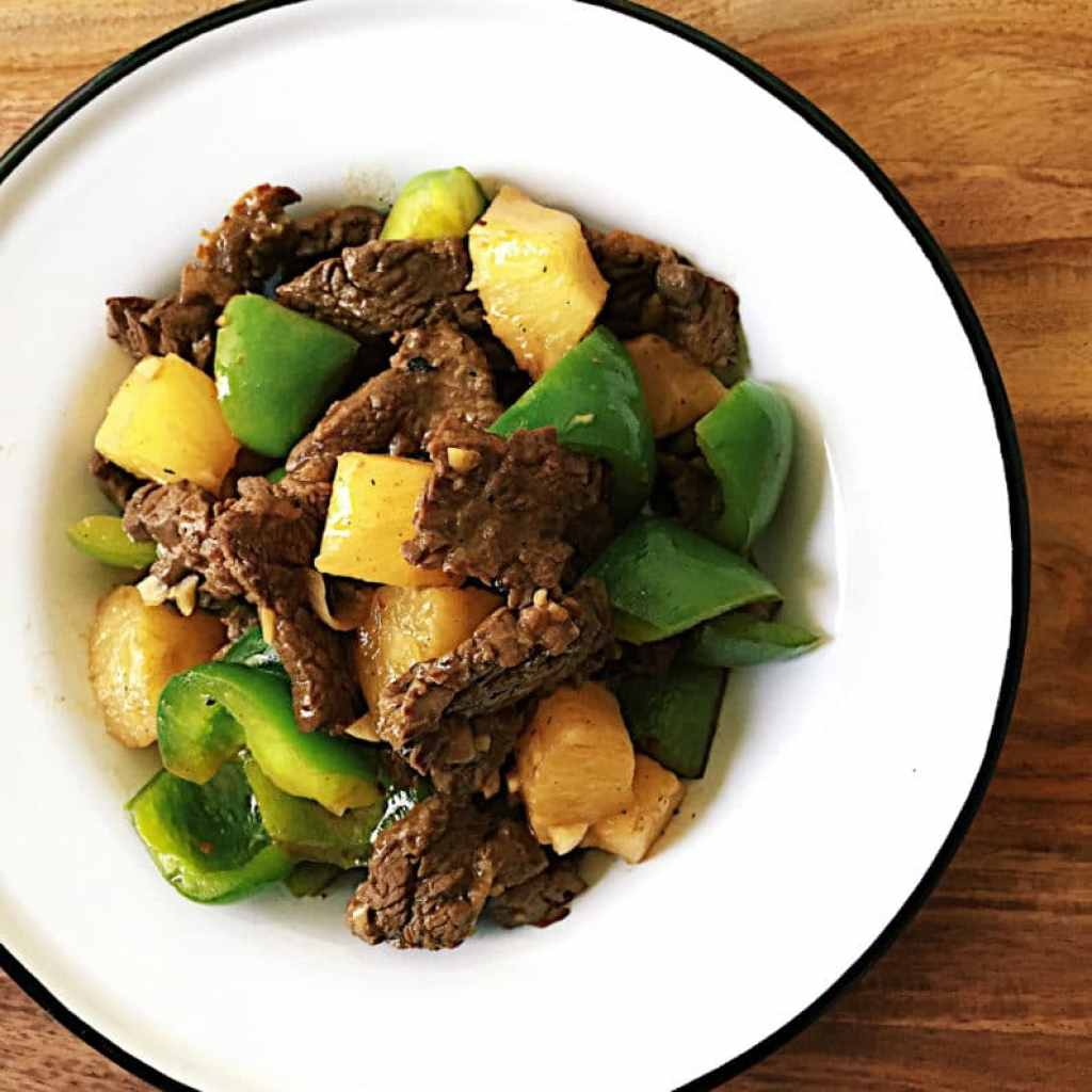 Simple Pineapple Beef Stir-Fry