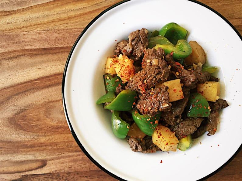 Simple Pineapple Beef Stir-Fry