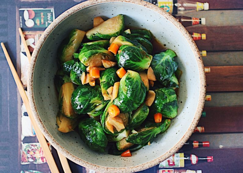 Stir-Fried Thai Brussels Sprouts
