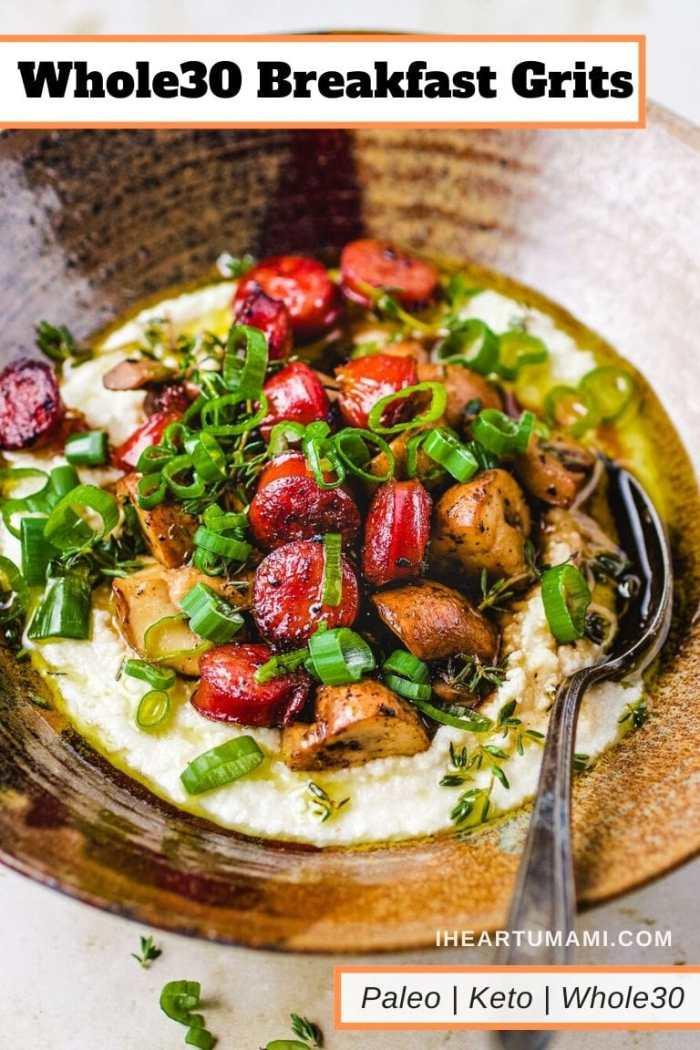 Keto Grits Whole30 Breakfast Recipe I Heart Umami