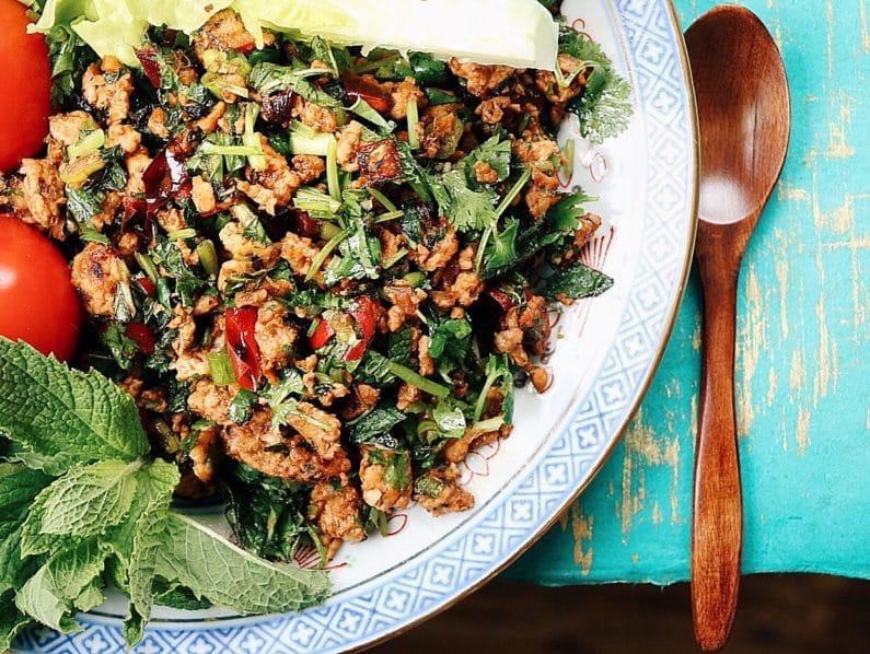Paleo Thai Minced Chicken Herbal Salad Iheartumami