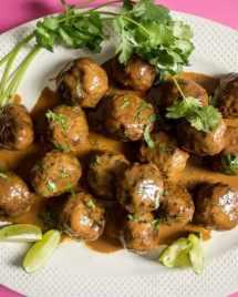 Creamy Coconut Milk Meatballs recipe Paleo Whole30 meatball recipe