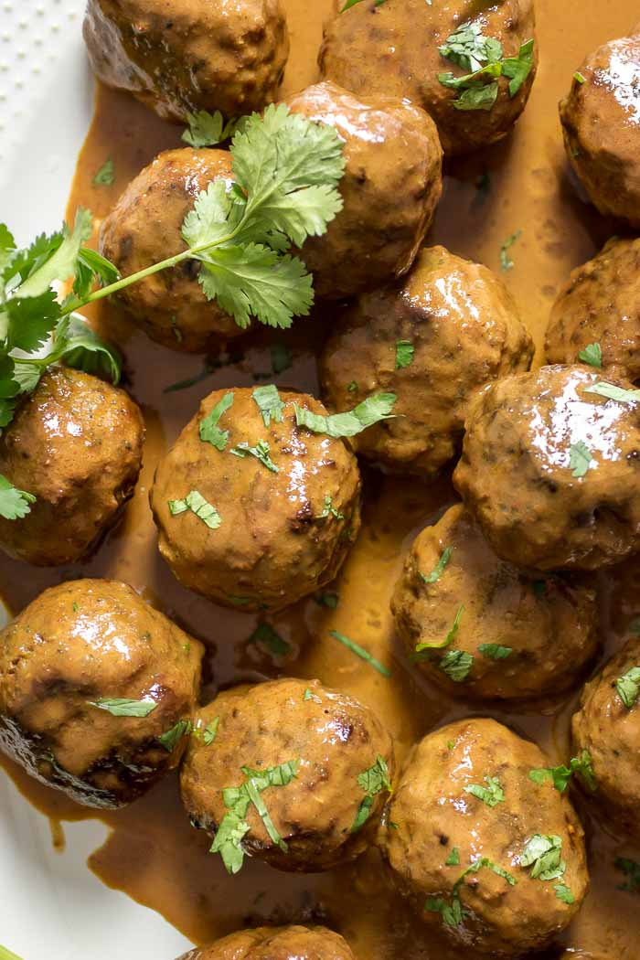 Creamy Coconut Milk Meatballs recipe Paleo Whole30 meatball recipe