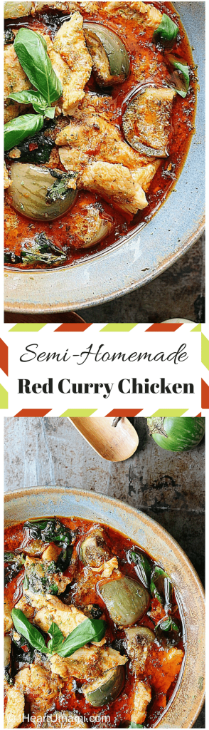Semi-Homemade Red Curry Chicken! Delicious Thai Chicken Curry with homemade herbs, fresh spices, and no added sugar. Perfect Winter recipe. Paleo, Whole30, family friendly !
