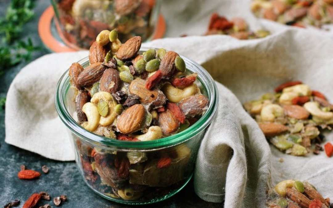 Paleo Ginger-Spiced Mixed Nuts