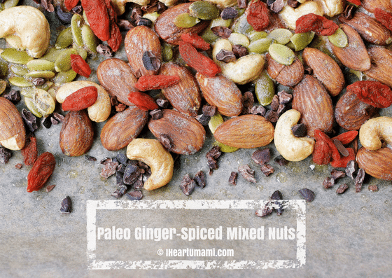 Paleo Ginger-Spiced Mixed Nuts. Paleo Holiday Homemade Spiced Nuts. Keto and Whole30 nuts and sncaks
