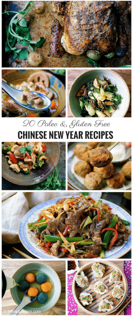 20 Chinese New Year Recipes. Paleo Asian food recipes. Paleo Chinese food recipes. IHeartUmami.com