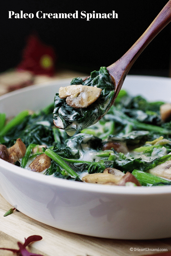 Paleo creamed spinach recipe