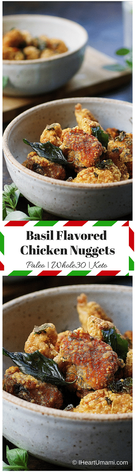 Paleo Chicken Nuggets. Taiwanese-style crunchy chicken nuggets. Perfect Paleo appetizer/game-day recipe. Paleo Asian food. Paleo Chinese food. IHeartUmami.com