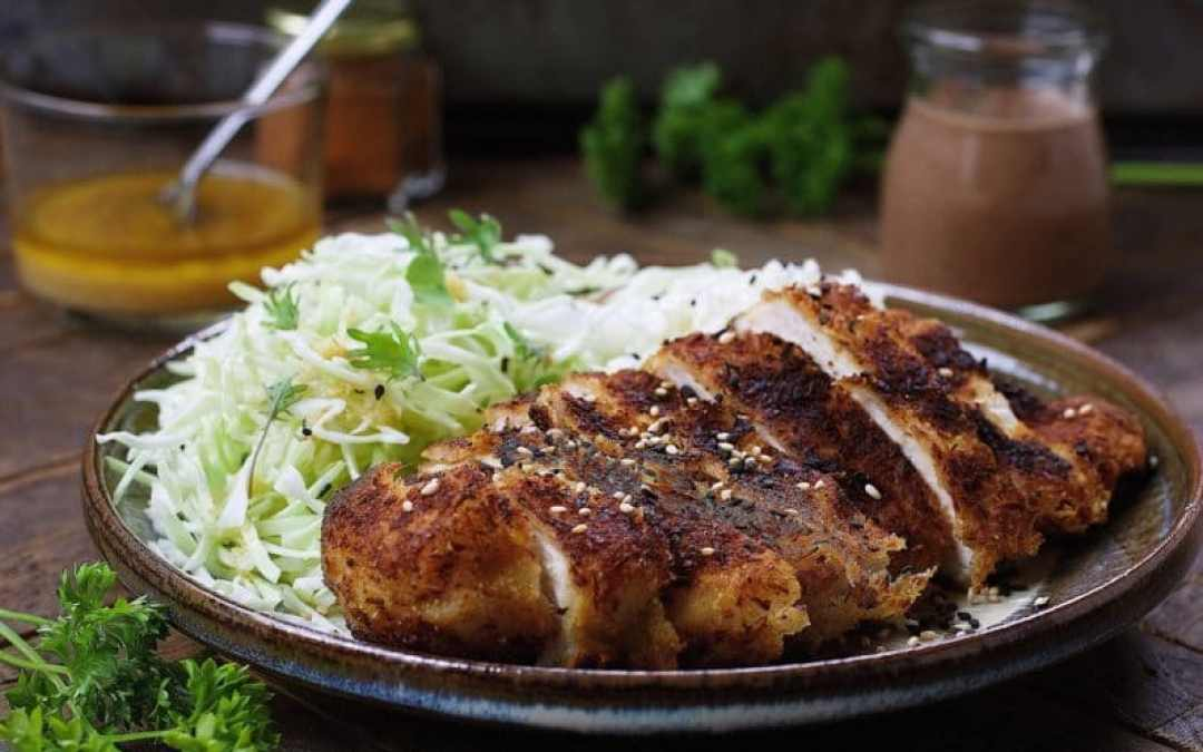 how to make chicken katsu without flour