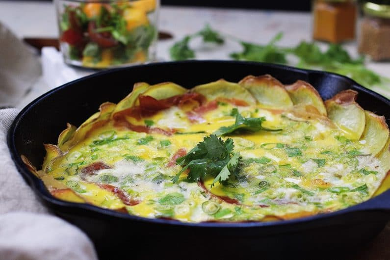 Whole30 Scalloped Potato Frittata