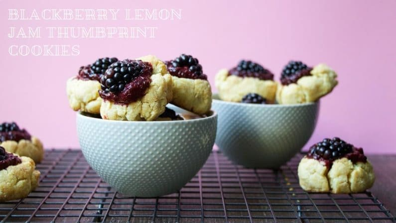 Blackberry Lemon Jam Thumbprint Cookies