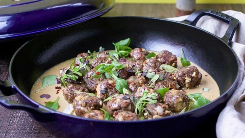 Xi'an-Inspired Cumin Lamb Meatballs
