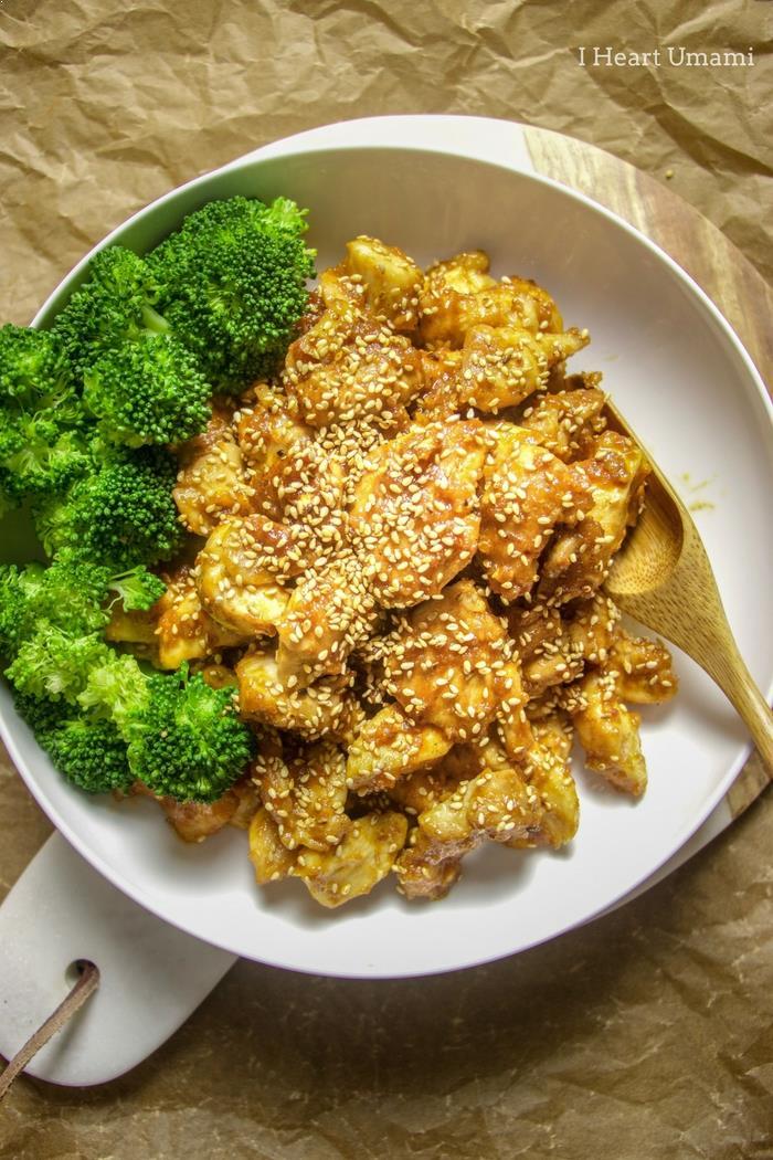 Paleo chinese sesame chicken recipe i heart umami chinese sesame chicken forumfinder Images