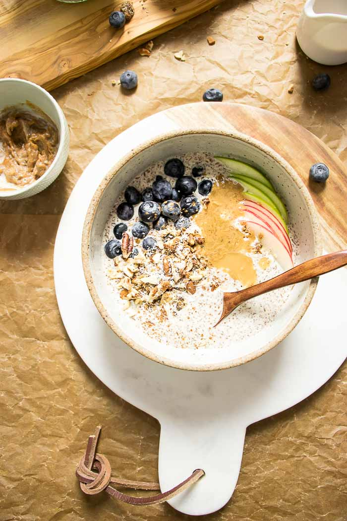 Paleo Oatmeal healthy paleo breakfast recipe gluten dairy grain free.